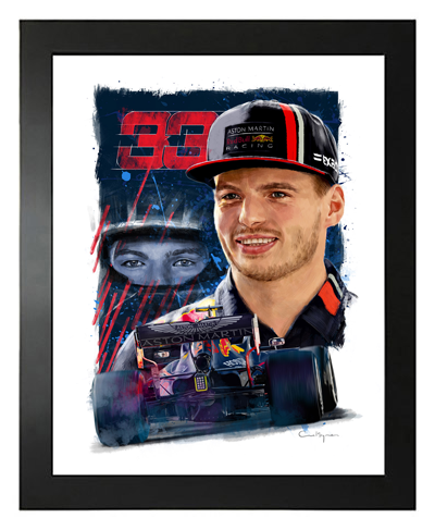 Buy Max Verstappen, Red Bull Racing F1 Driver, Hand Drawn, Limited Edition Prints on Etsy