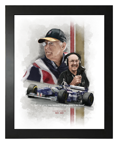 Buy Murray Walker, Hand Drawn, Limited Edition Prints on Etsy