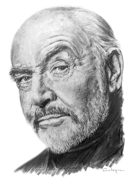 Sean Connery portrait drawing