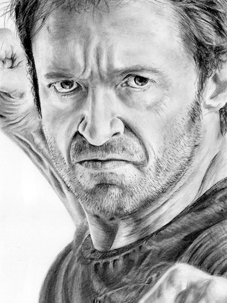 Hugh Jackman / Wolverine drawing