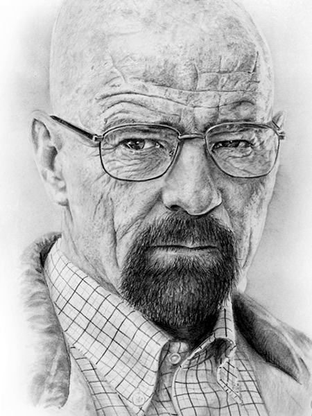 Walter White/ Heisenberg pencil portrait