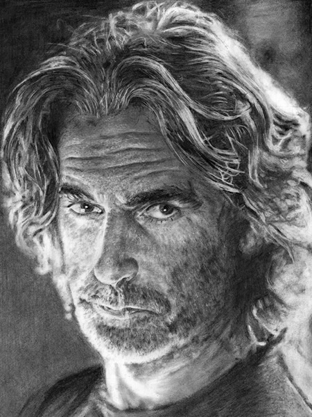 Sam Elliot art portrait
