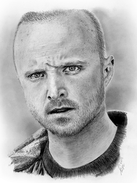 Jesse Pinkman portrait drawing