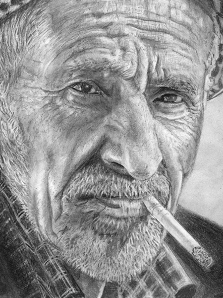 Old Man Drawing