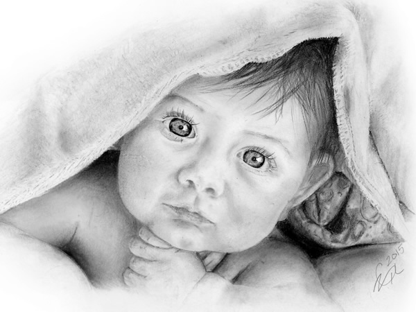 Baby Pencil Drawing