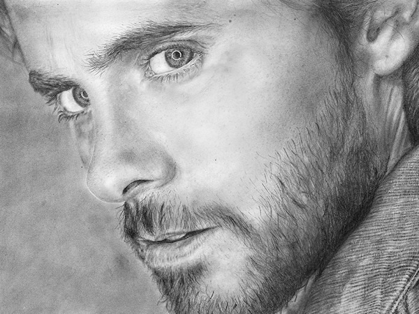 Jared Leto pencil drawing art